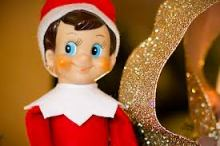 Elf on shelf closeup